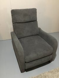 Gray suede armchair Red Deer, T4R 0M4