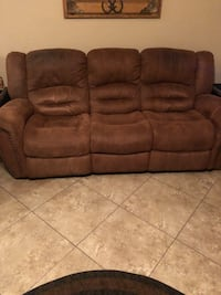 brown leather 3-seat recliner sofa Tucson, 85741