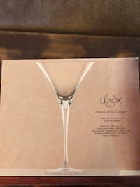 Lenox martini glass set of 4. Box never opened, received as a gift   Newport News, 23602