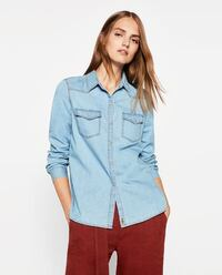 NEW denim Zara shirt
