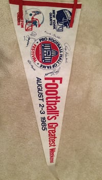 1985 NFL Hall of Fame Induction Pennant - OJ Simpson Centreville
