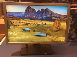 """DELL SE198WFP 19"""" WIDESCREEN SILVER FLAT LCD MONITOR"""