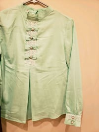 white and green long sleeve shirt Vaughan, L4H 2L3