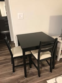 Black wooden dining table set Gaithersburg, 20878