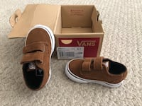 Pair of brown suede baby vans velcro shoes with box Hawthorne, 90250