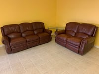 Leather Sofa and Loveseat Recliners Reston, 20194