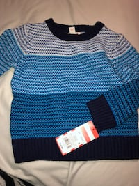 Toddlers Blue and black striped sweater 2269 mi