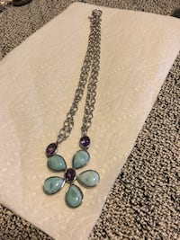 Larimar pendant on chain