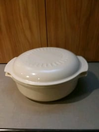 Vintage Tupperware Microwave 1 3/4 Quart Bowl & Li Center Point, 35215