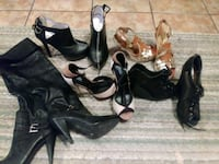 two pairs of black leather heeled shoes Boutte, 70039