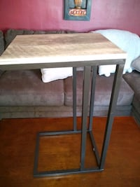 rectangular brown wooden table with white metal base Palmdale, 93550