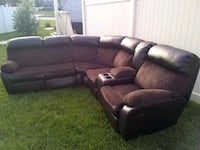 black leather recliner sofa Cheltenham, 20623