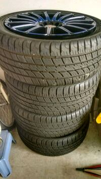 four black rubber car tires Houston, 77073