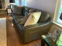 100% Italian Gray Leather with Pillows Upper Marlboro, 20774