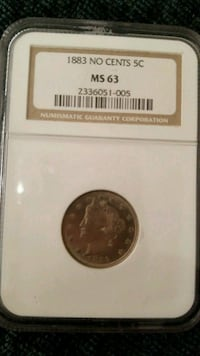 round silver coin in pack Mesa, 85205