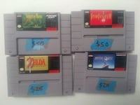 Super Nintendo Games. prices in pictures Germantown, 20874