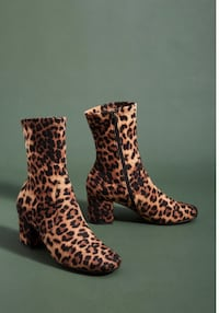 Anthropologie Leopard Boot Size 7