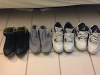 four pairs of basketball shoes