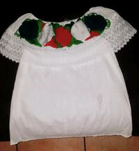white and green floral scoop neck shirt Fort Worth, 76137