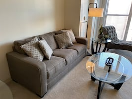 Comfy Light Brown Couch