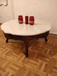 Like new solid wood with marble top coffee table i Annandale, 22003