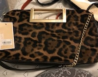 Women's brown and black leopard pattern 2-way bag Londonderry, 03053