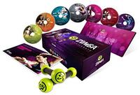 ZUMBA fitness EXHILARATE BODY SHAPING SYSTEM with Toning Sticks [Includes 5 DVDs, bonus music CD] Arlington, 22204