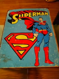 Superman rustic tin poster