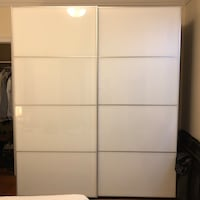 white wooden 3-door wardrobe New York, 10024