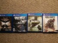 four Sony PS4 games (batman with all dlc included) 3737 km
