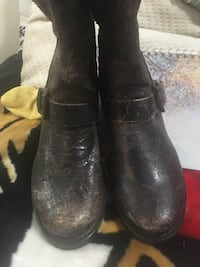 Lady's fashion leather boots