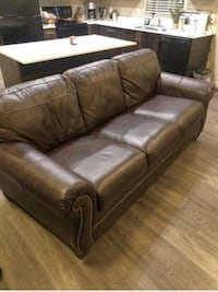 Brown leather couch for sale! Great condition, barley used!  West Haven, 84067