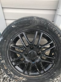 black Ford multispoke vehicle wheel and tire St Catharines