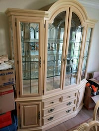 brown wooden framed glass display cabinet Miami, 33186