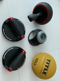Speed Abs Roller Wheel/ Perfect Push Up Set / 10lb Medicine Ball/ Resistance Bands Miami, 33129