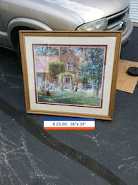 brown wooden framed painting of house St. Peters, 63376