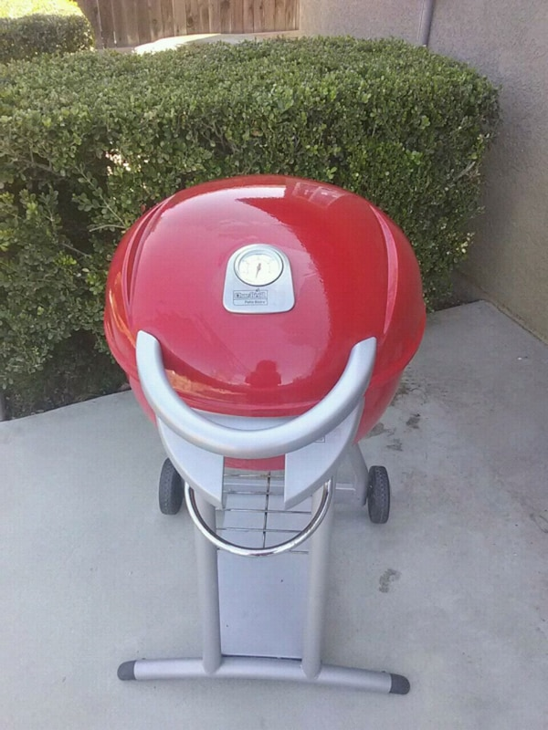 Red Weber electric grill