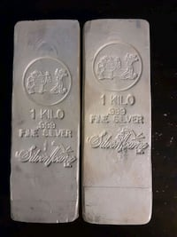2 - 1 kilo .999 pure silver bars Arlington, 22204