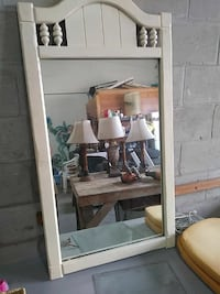 White wooden frame mirror 4 foot by 3 foot Ocala, 34480