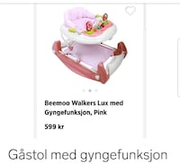 babyens rosa og hvite Fisher-Price bouncer Hønefoss