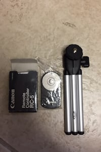 Camera stand and remote