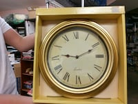 Gold colored London wall clock Boyds, 20841