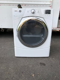 white front-load clothes washer Portland, 97236