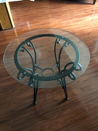 Glass top table- corner or end table