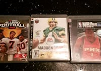 Three assorted PS3 game cases Edmonton, T6L 6T1