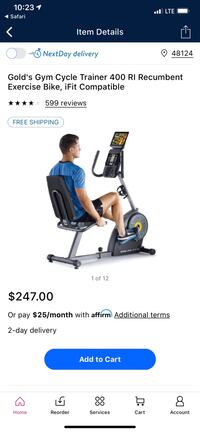 Golds Gym Cycle Trainer 400 RI