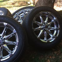 Chrome 20's wheel with tire set Rockville, 20850