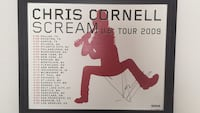 Chris Cornell Autograph Poster  - 87/500 9:30 Club Arlington, 22204