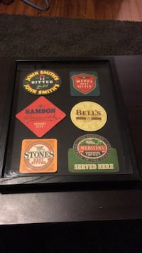 Framed beer coasters Hamilton, 20158