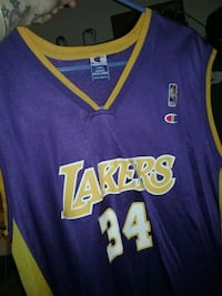 blue and yellow Los Angeles Lakers 24 jersey Mansfield, 02048